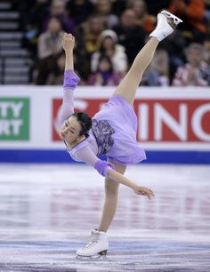 Mao Asada, of Japan, competes during the free skate in the World Figure Skating Championships, Saturday, April 2, 2016, in Boston. (AP Photo/Steven Senne) (2436×3164)