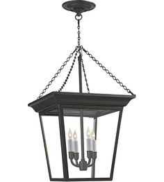 Visual Comfort SL5871BZ E.F. Chapman Cornice 4 Light 15 inch Bronze Foyer Pendant Ceiling Light #LightingNewYork