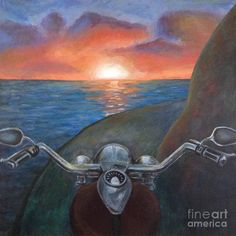 Image result for motorcycle acrylic painting