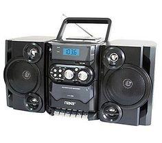 Naxa Portable MP3/CD Player w/ Radio Cassette Player/Recorder