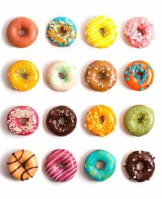 Fun and colorful donuts