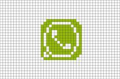Whatsapp Logo, Minecraft Pixel Art, Whatsapp Messenger, Loom Patterns, Letter Logo, Art Logo, Pattern Art, Doodle Art, Logo Branding