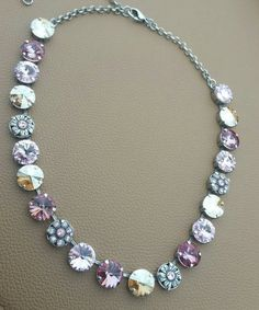 Check out this item in my Etsy shop https://www.etsy.com/listing/491346987/pretty-in-pink-necklace