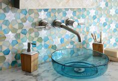Medina jewel glass waterjet mosaic   New Ravenna Mosaics
