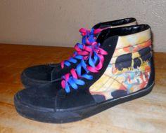 newest 3b2c2 45832 Vans Hi Watercolor Skull Shoes Sneakers Black Suede sz 13 Multicolor in  Clothing, Shoes   Accessories, Men s Shoes, Athletic