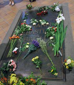 Johann Sebastian Bach's grave - Thomaskirche (Saint Thomas' Church), Leipzig, Germany  https://www.flickr.com/photos/eymen/1343916434