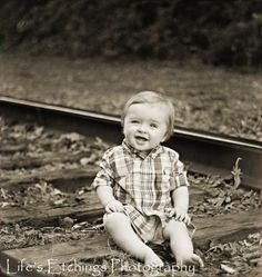 Graham on the railroad tracks