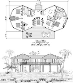 2 story octagon house plans that enables octagonal for Modern octagon house plans