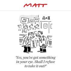 Matt cartoon, April 26. Daily Telegraph
