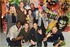 Cara Delevingne, Will Smith & Margot Robbie Celebrates 'Suicide Squad' Release With Graffiti Art