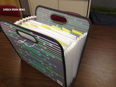 Speech Room News: SLP 101: Working Folders