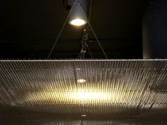 Metal mesh panels #ceiling decoration. Note the effects with artificial light. Material type: SIERRA PAPA large 2.