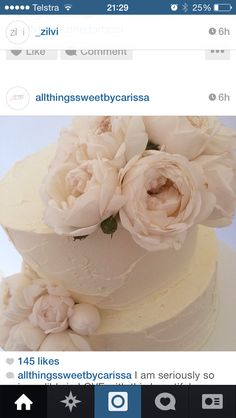 Cake Inspo Buttercream Cake, All White, Wedding Cakes, Floral, Beautiful, Wedding Ideas, Buttercream Ruffles, Wedding Gown Cakes, Flowers