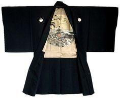 Japanese antique silk haori, pre WWII