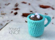 Crochet Hot Chocolate Mug Ornament | AllFreeCrochet.com