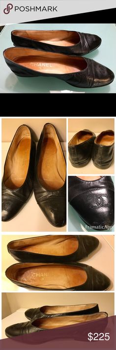 Vintage Chanel Lambskin Ballet Flats 38.5/8.5 Vintage Chanel Lambskin Ballet Flats. Interior is leather lined. Outsole is leather and in worn but usable condition. Lambskin leather is buttery soft with no major scratches or scuffs. Cap Toe polished leather has Embroidered CC logo at toe and a couple of small scuffs. Made in Italy. Size 38.5/8.5 US. CHANEL Shoes Flats & Loafers