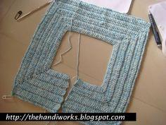 crochet square neck raglan top down pattern