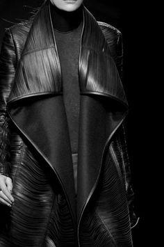Leather slits by Gareth Pugh