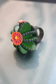 Isabelle Azaïs - cactus leather ring