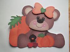 3D~ 484 Fall Halloween Bear Pumpkin Blackbird Scrapbook Card Paper Embellishment