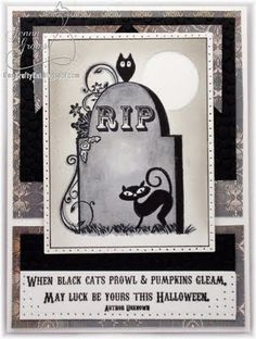 Prickley Pear Rubber Stamps:  RIP HH0053, Black Cats Prowl GG0063