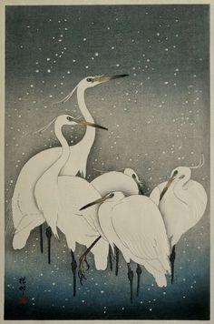 Group of Egrets, Ohara Koson, 1925 - 1936