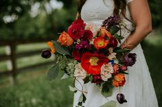 Summery poppy bridal bouquet