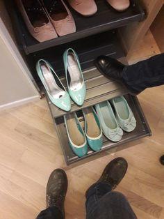 Sposób na przechowywanie butów, ale małe buty i kiepskie wykorzystanie miejsca, przy większej ilości butów
