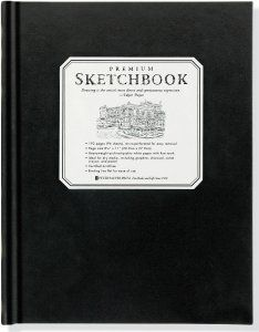 Large Black Premium Sketchbook, Journals, Sketchbooks and Interactive Journals, Peter Pauper Press