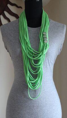 Most popular Pretty Green Infinity Scarf by KariLynnsKumfortshop,