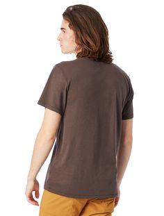 Alternative Apparel Organic Cotton Mens Crew T-Shirt - Earth Natural Xxs