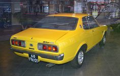 Seen in a used car showroom, that used to be a Mitsubishi dealership. I love these Japanese pillaless hardtop coupes from the Too bad so few of them have survived. Mitsubishi Colt, Mitsubishi Galant, Vintage Cars, Motors, Gears, Restoration, Vehicles, Shop, Cutaway