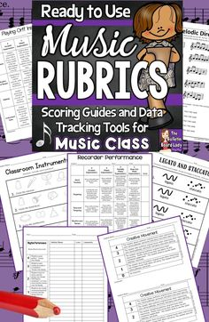 Music rubrics (or scoring guides) that are ready to use! YES! This is a huge collection of assessment and data tracking tools for music class. Your students, parents and administrators will love the specific feedback that these rubrics give.