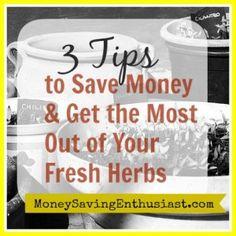 Meal Plan Monday: 3 Tips on Saving Money Using Up Fresh Herbs