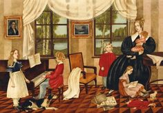 Illustration for Tchaikovsky's Children's Album by Russian Artist Vera Pavlova