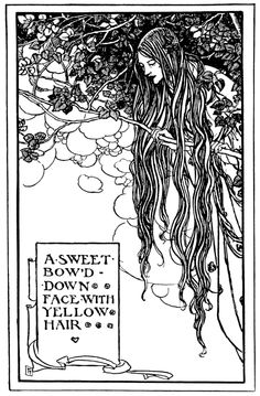 Art by Florence Harrison (1914) from THE EARLY POEMS OF WILLIAM MORRIS.