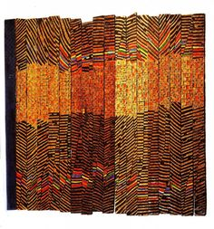 El Anatsui Wood Sculputure | Art in the Studio: El Anatsui at Davis Museum, Wellesley College