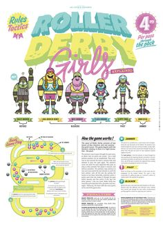 POSTER-ROLLER DERBY GIRLS-UK