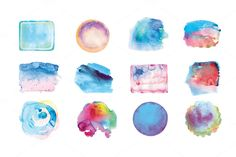 Watercolor background by flurno on Creative Market