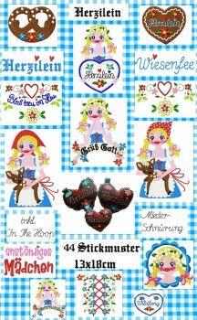 ♥ ♥ HERZILEIN embroidery 13x18cm incl INtheHOOP