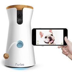 Furbo Dog Camera: Treat Tossing, Full HD Wifi Pet Camera and 2-Way Audio, Designed for Dogs, Works with Amazon Alexa (As Seen On Ellen). Fun TREAT TOSSING: TOSS a treat to your puppies by means of the free Furbo iOS/Android application. Fill it with more than 100 bits of your puppies' most loved treats & play a, best offer