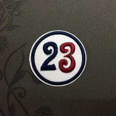 23 number iron on patches Sew on patches