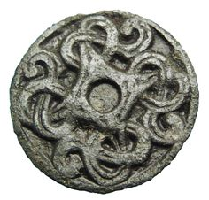 Viking bronze brooch, decorated in Borre-style, 9th-11th century AD
