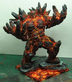 James Wappel Miniature Painting: Painting with fire... the Golem continues.