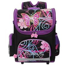 Kids Butterfly Cartoon Orthopedic Backpacks for School W32 H40 T17cm - Click image twice for more info - See a larger selection of Girls teen  backpacks at http://kidsbackpackstore.com/product-category/teen-girls-backpacks/ - kids, juniors, back to school, kids fashion ideas, teens fashion ideas,  school supplies, backpack, bag , teenagers,  boys, gift ideas