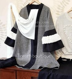 آموزش دوخت پالتو بین خطوط زرد رو به - زیباکده Chen, Kimono Top, Stuff To Buy, Tops, Fashion, Moda, Fashion Styles, Fashion Illustrations