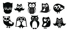cute Owls - from KLDezign les SVG - lots of free files! Silhouette Cutter, Silhouette Machine, Silhouette Files, Silhouette Design, Owl Silhouette, Silhouette Portrait, Silhouette Cameo Projects, Vinyl Designs, Owl Designs