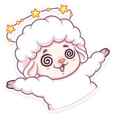Telegram Sticker from collection «Марта Eid Stickers, Sheep Cartoon, Telegram Stickers, Fun Illustration, Old Love, Cute Wallpapers, Smiley, Art Sketches, Hello Kitty