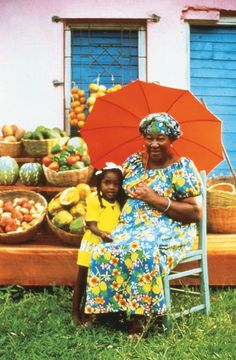 Jamaica  generations ... granny and grand-d
