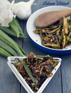 Lahsuni Bhindi, Garlic Bhindi Recipe